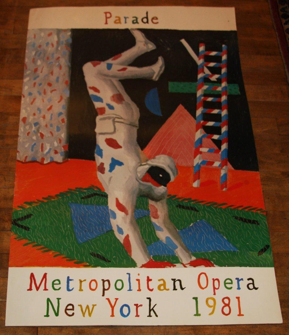 DAVID HOCKNEY 1981 Poster Parade Metropolitan Opera NY