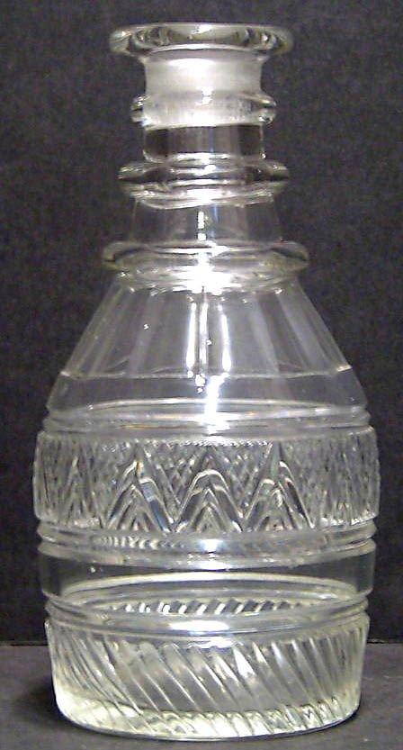 12: BLOWN GLASS DECANTER NO STOPPER