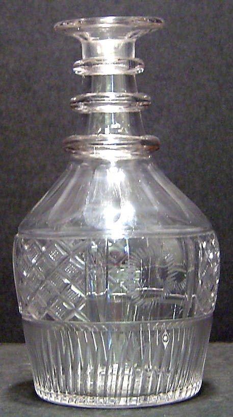13: HAND BLOWN GLASS DECANTER