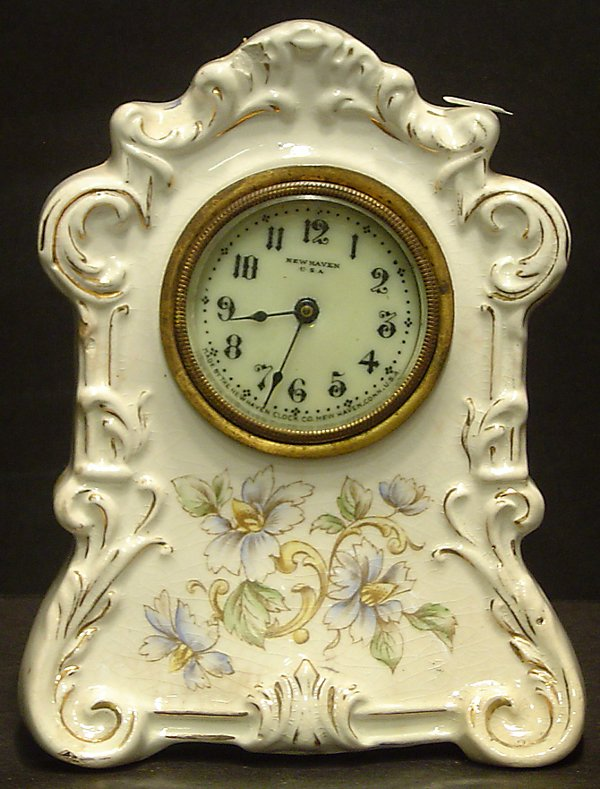 """18: SIGNED """"BLANCHE"""" CLOCK BY THE NEW HAVEN CLOCK CO"""