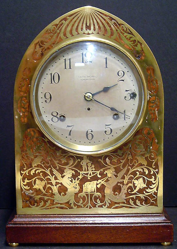 25: RARE 19TH. CENTURY SETH THOMAS MANTLE CLOCK WITH SO