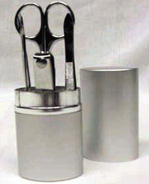 1003: 5 pc Manicure set in aluminum cylinder FREE SHIPP