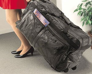 1007: Embassy • USA™ Genuine Leather Rolling Duffle Bag