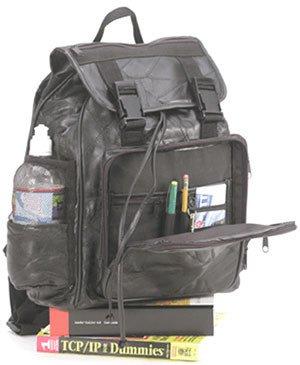 1014: Embassy • USA™ Genuine Leather Backpack. Free shi