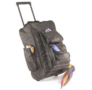1018: Embassy • USA™ Genuine Patched Leather Backpack/C