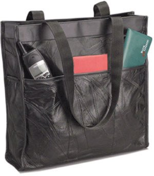 1020: Embassy • USA™ Genuine Leather Shopping/Travel Ba