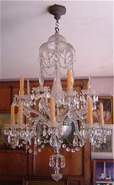 3089: ENGLISH GEORGIAN CUT GLASS CRYSTAL CHANDELIER. LA