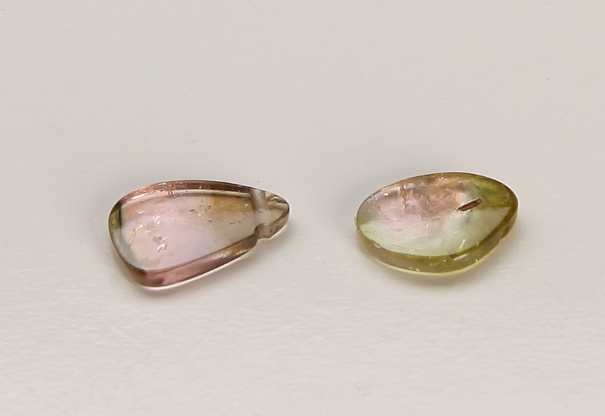 2 Pink & Green Gemstones