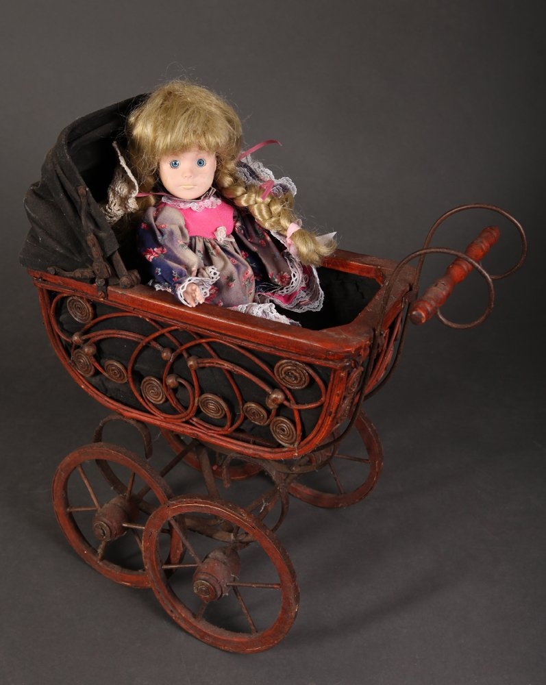 Antique Style Doll and Stroller