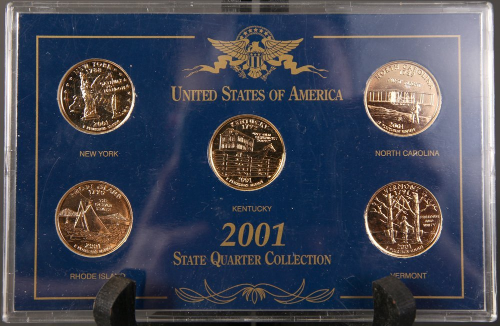 2001 Gold Plated State Quarter Collection