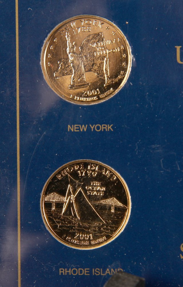 2001 Gold Plated State Quarter Collection - 2