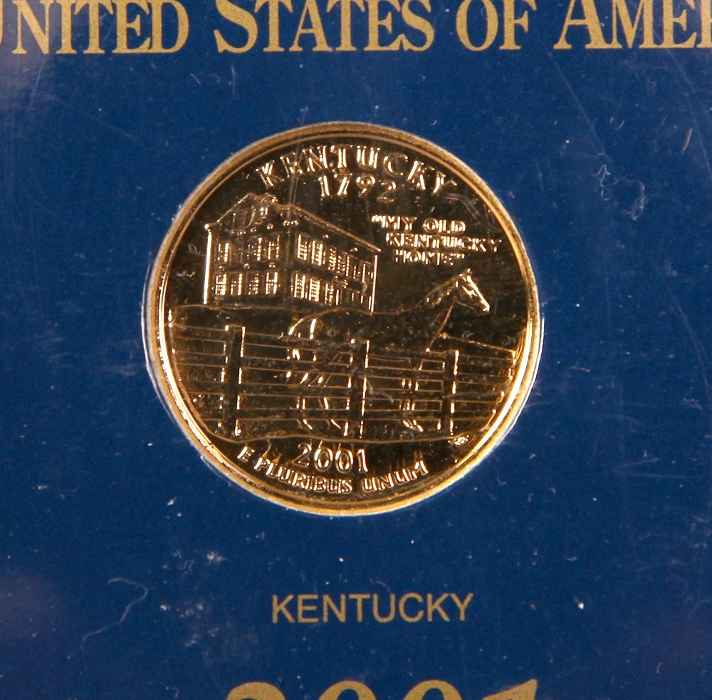 2001 Gold Plated State Quarter Collection - 3