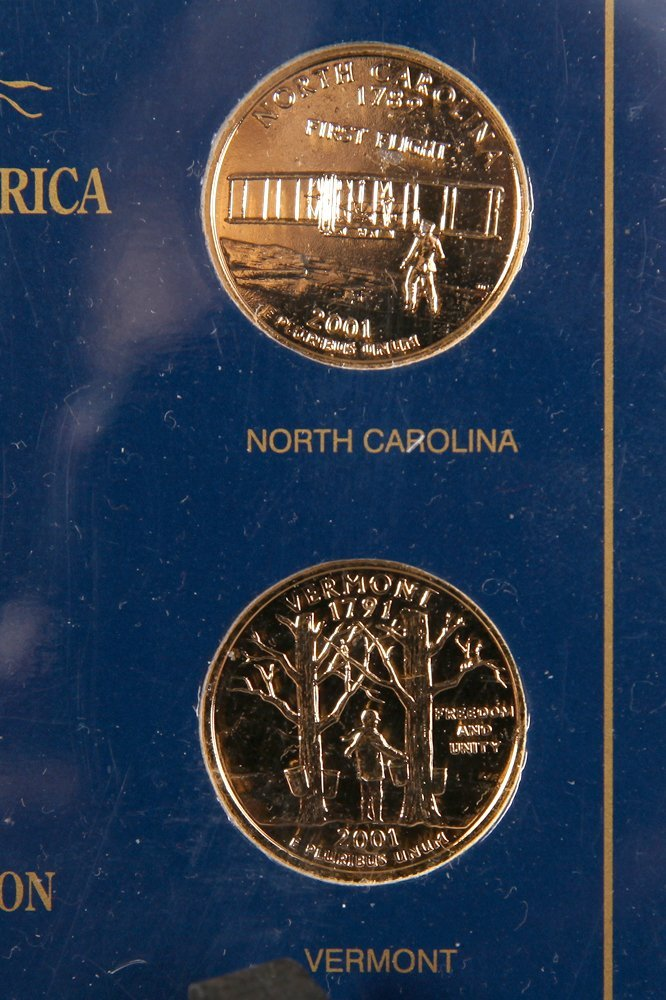 2001 Gold Plated State Quarter Collection - 4
