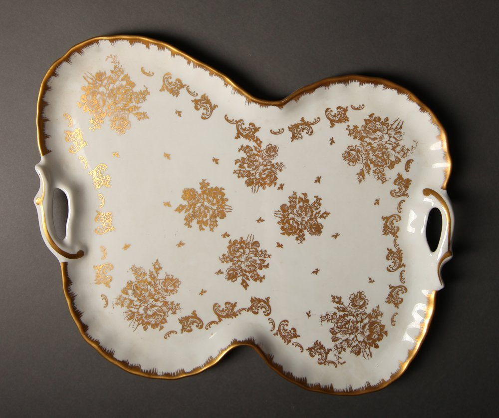 French Porcelain Handled Platter