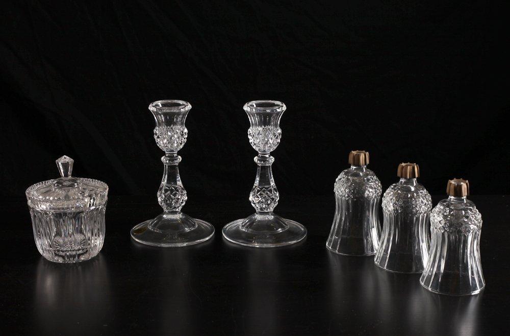 Cristal D'Arques Candlesticks, Sugar & Tea Lights