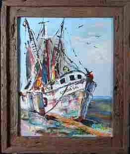 John W. Cook, Oil Painting on Panel