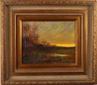 Joseph P Grieco Oil Painting on Board