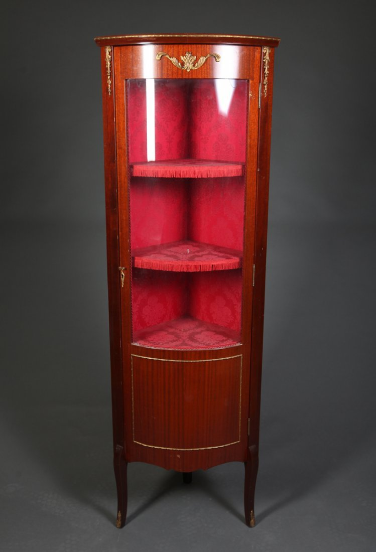 Small Antique Corner Curio Cabinet