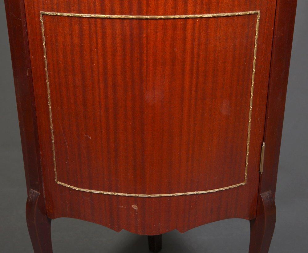 Small Antique Corner Curio Cabinet - 3