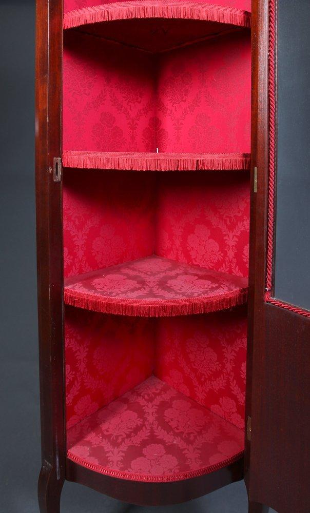 Small Antique Corner Curio Cabinet - 4