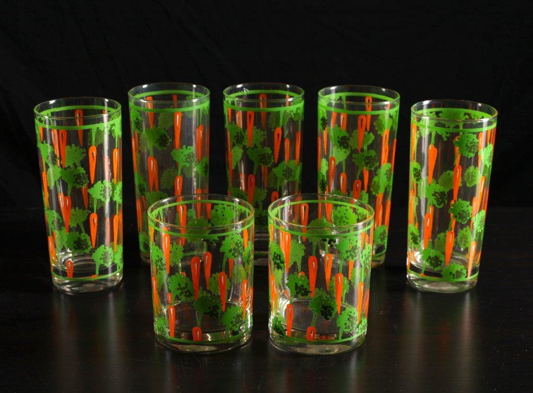 7 Mid Century Modern Krina for Cera Carrot Glasses