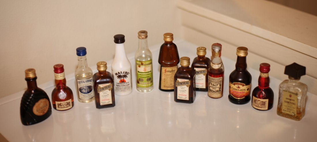 Collection of Miniature Alcohol Bottles