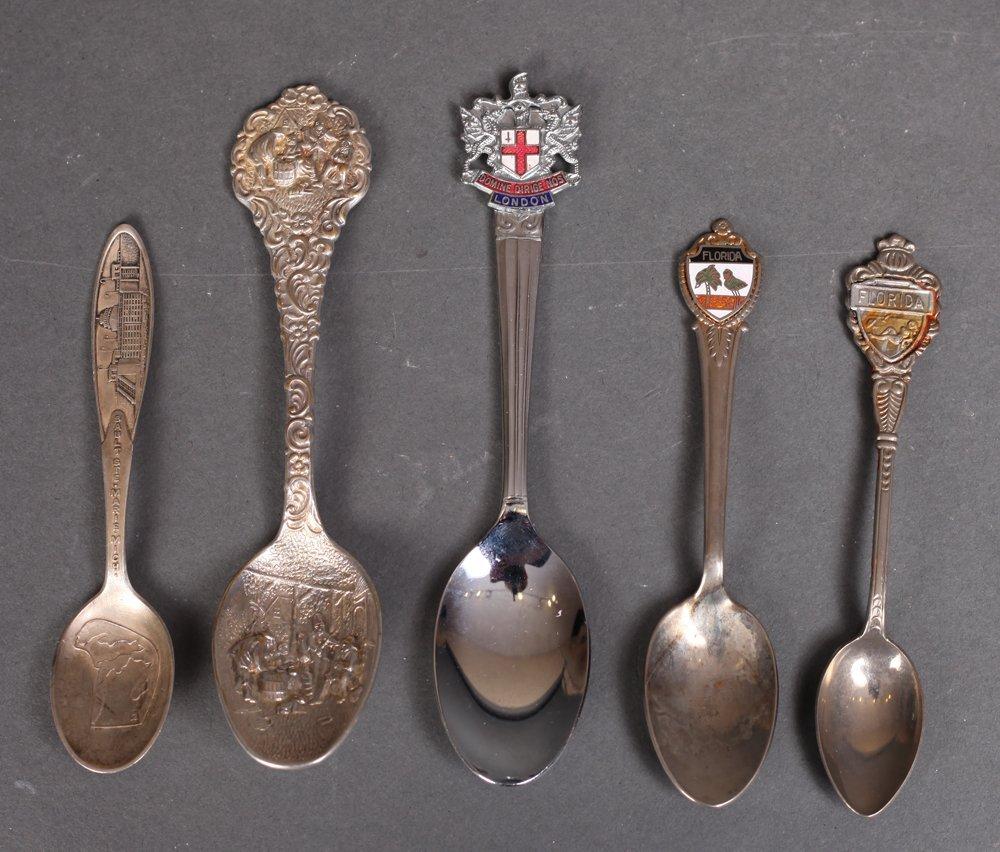 5 Vintage Souvenir Spoons