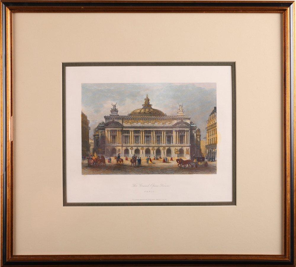 The Grand Opera House, Paris Colored Lithograph