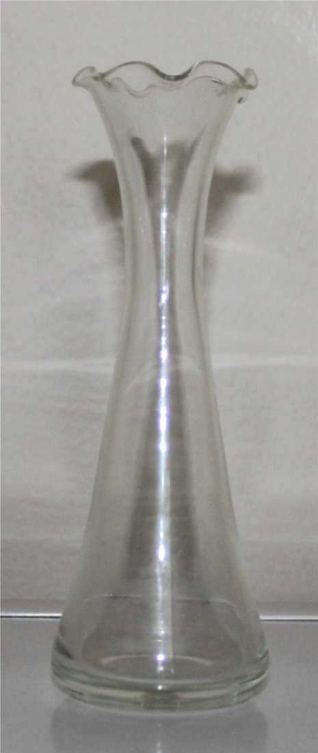 Antique Clear Glass Bud Vase