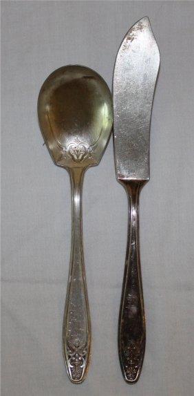 2 Antique Lady Doris Silver Plate