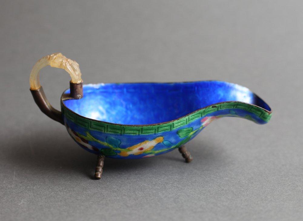 Chinese Republic Jade Handled Pourer