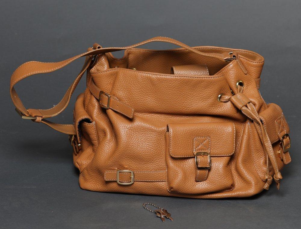 Maxx Studio Tan Pebbled Leather  Purse