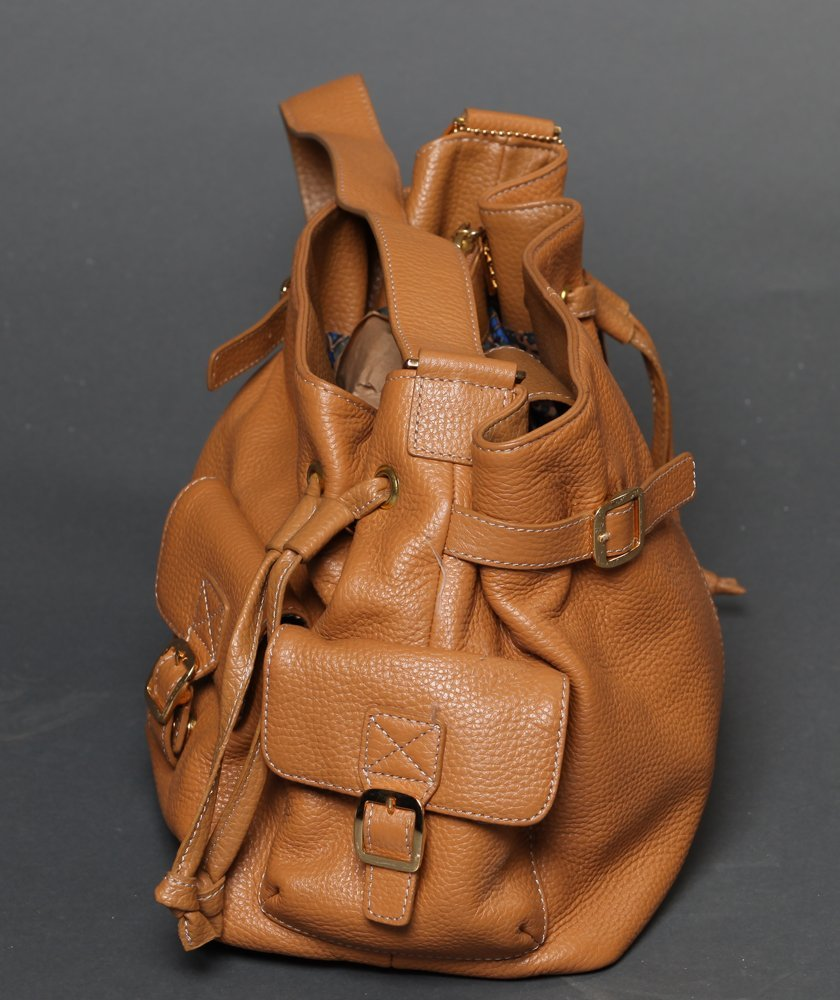 Maxx Studio Tan Pebbled Leather  Purse - 2