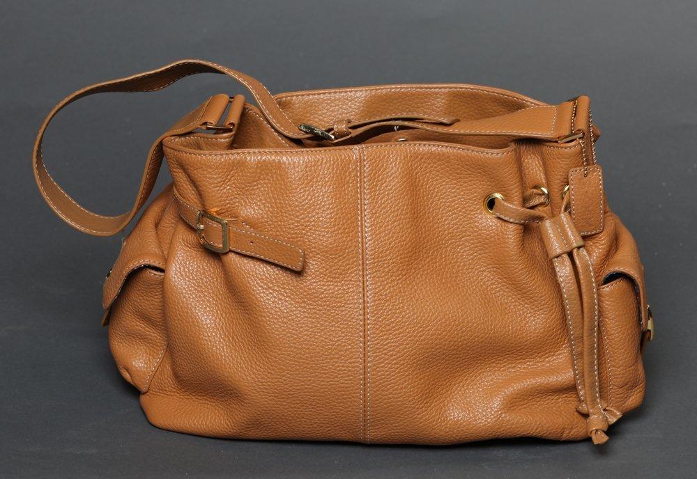 Maxx Studio Tan Pebbled Leather  Purse - 3