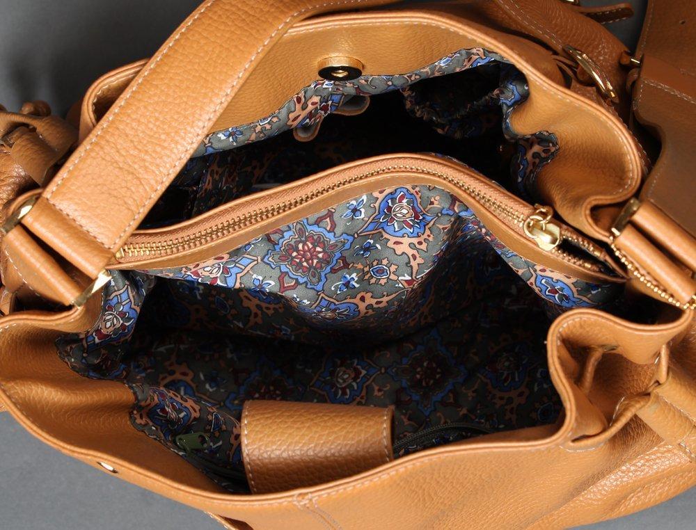 Maxx Studio Tan Pebbled Leather  Purse - 4