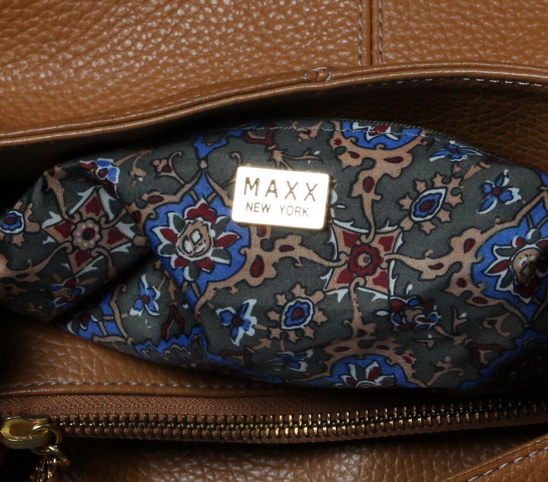 Maxx Studio Tan Pebbled Leather  Purse - 5