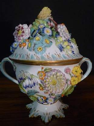 Large late 19th, early 20th Century German porcelain