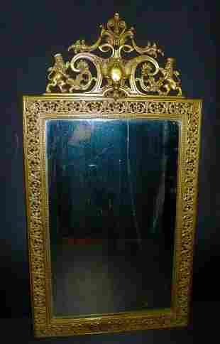 Large late 19th Century Bronze wall mirror with