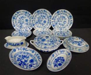 12 Pc. Onion pattern china