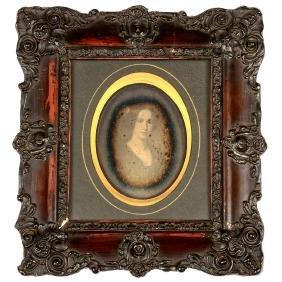 """Daguerreotype """"Wilhelmine Brun"""", 1846"""