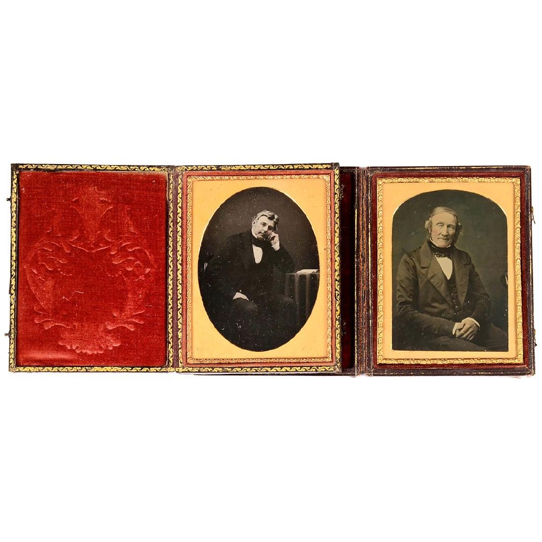 2 Ambrotypes (Hand-Colored), c. 1850–60