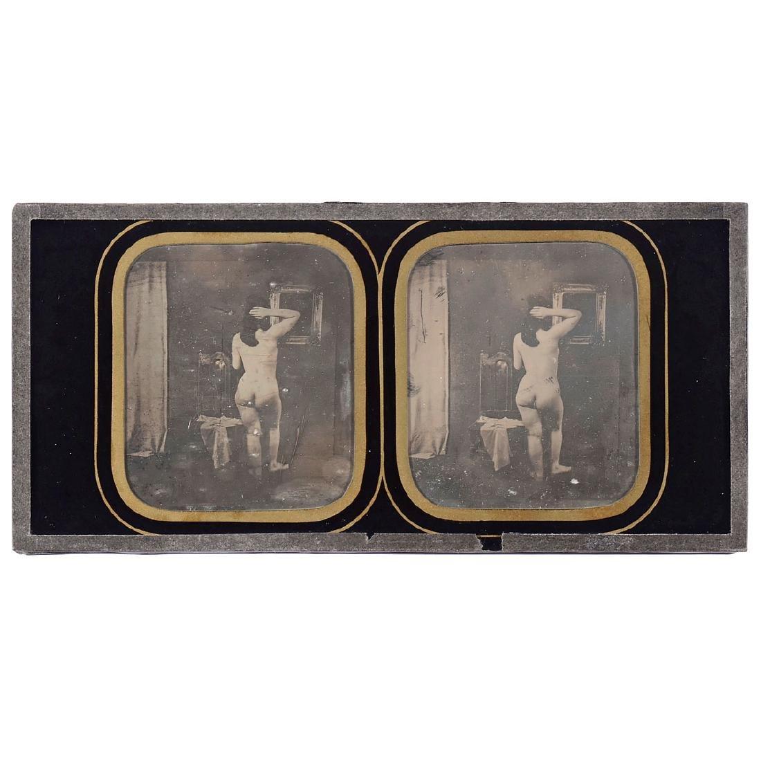 Stereo Nude Daguerreotype, c. 1845