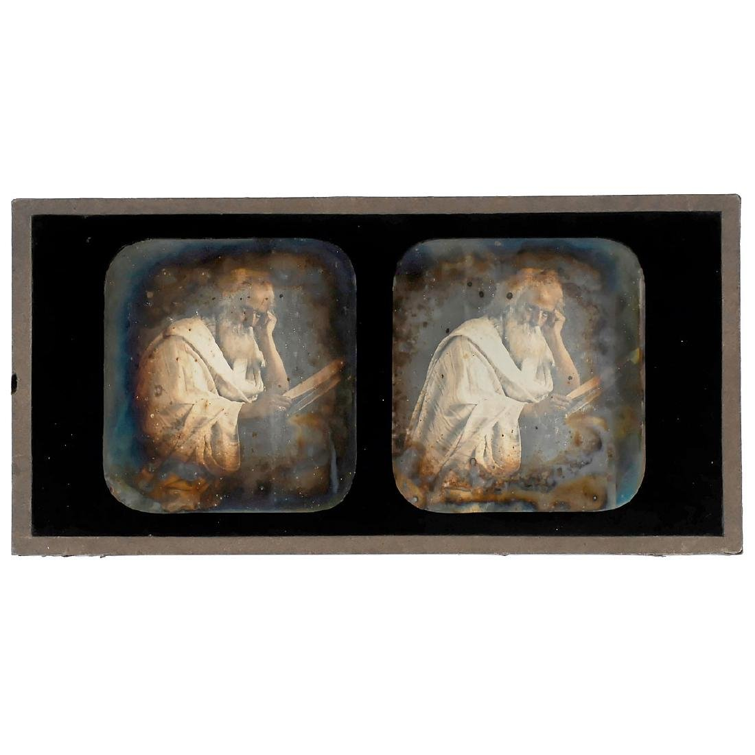 "Stereo Daguerreotype (""The Thinker""), c. 1845"