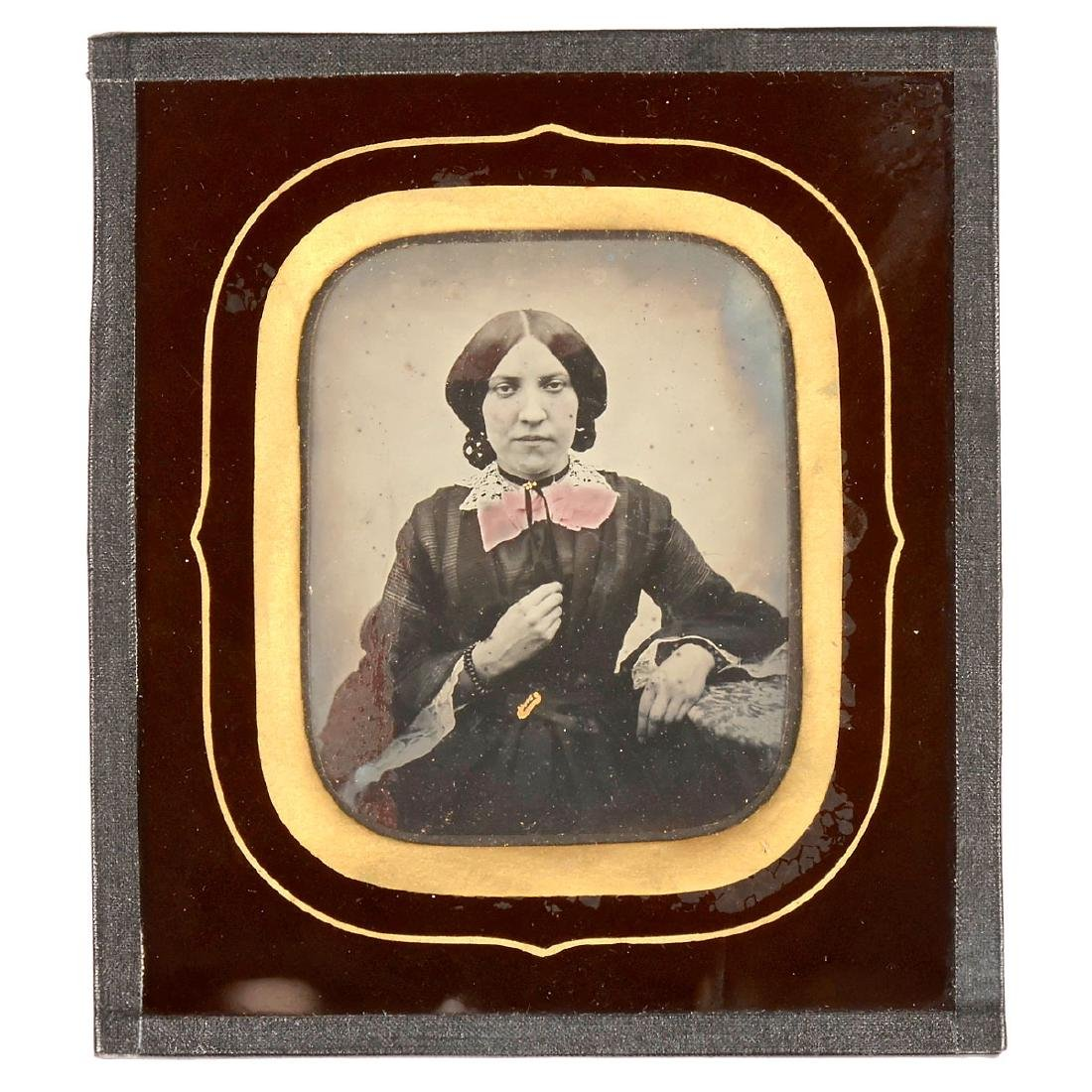 """Ambrotype """"New's Photographic Portrait Gallery"""", July"""