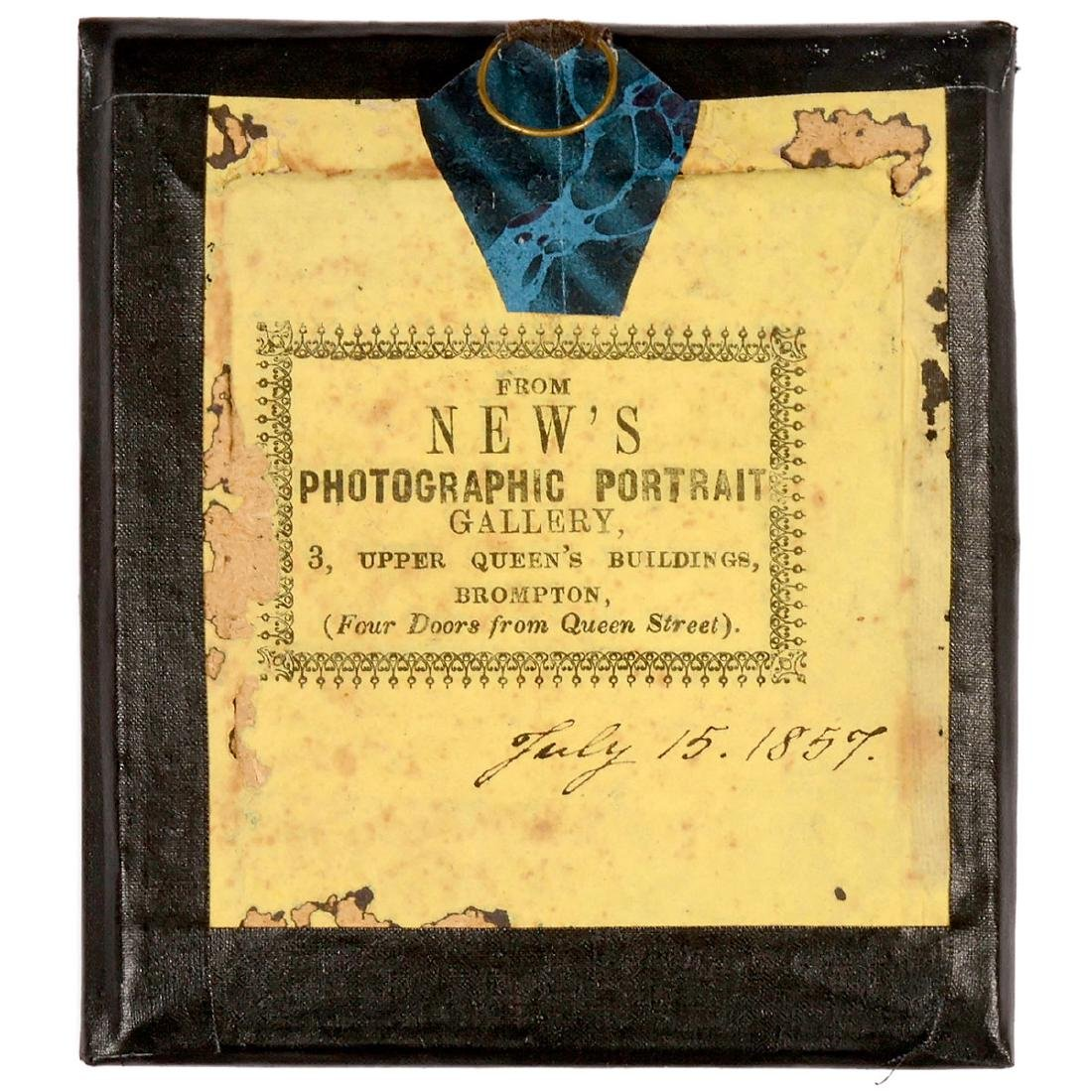 """Ambrotype """"New's Photographic Portrait Gallery"""", July - 2"""