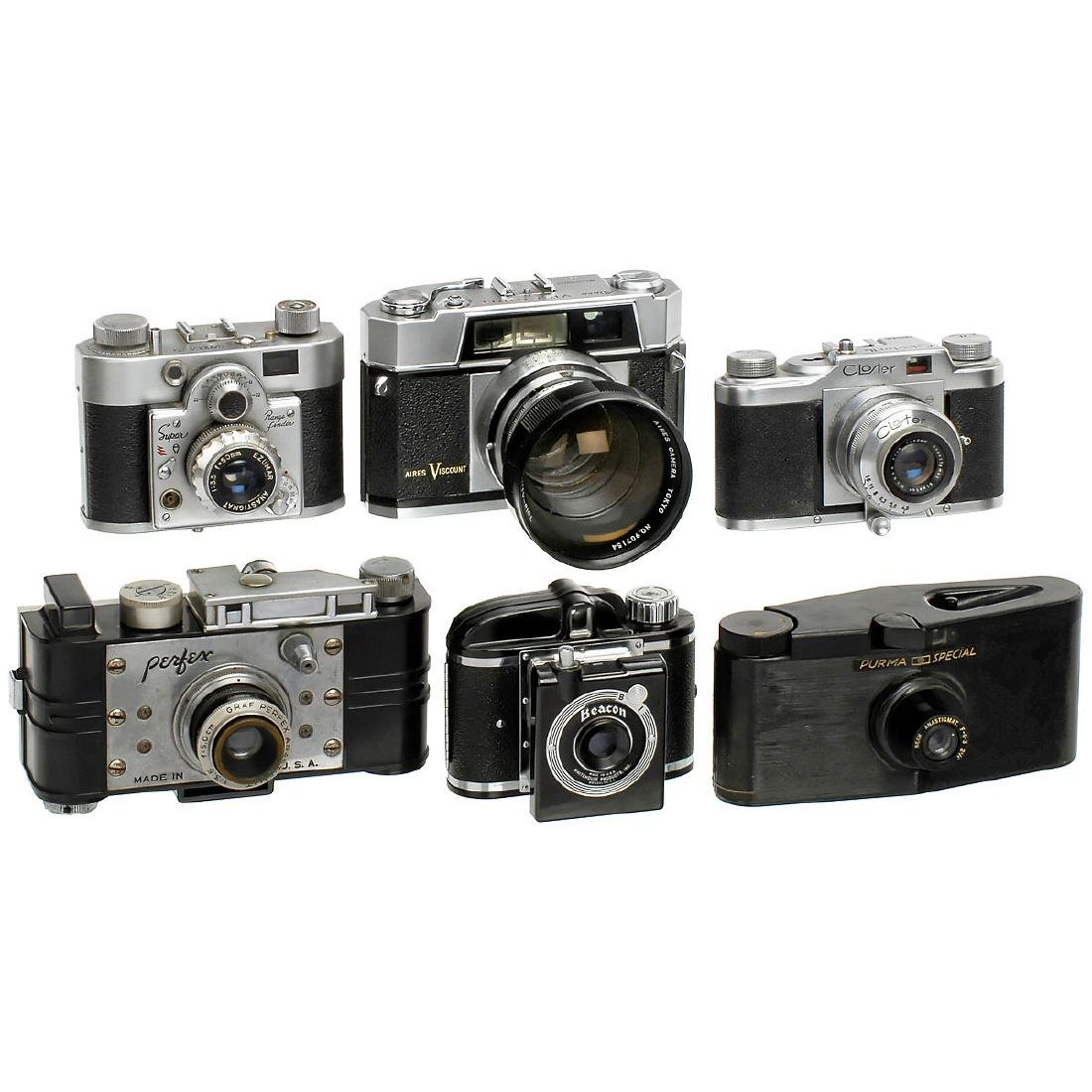 Cameras from Japan, Italy, USA and England
