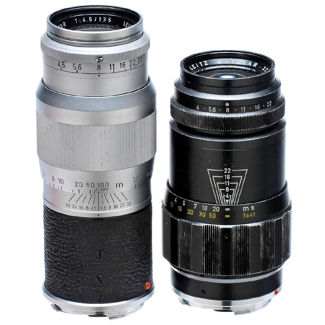 Tele-Elmar 4/135 mm and Hektor 4,5/135 mm