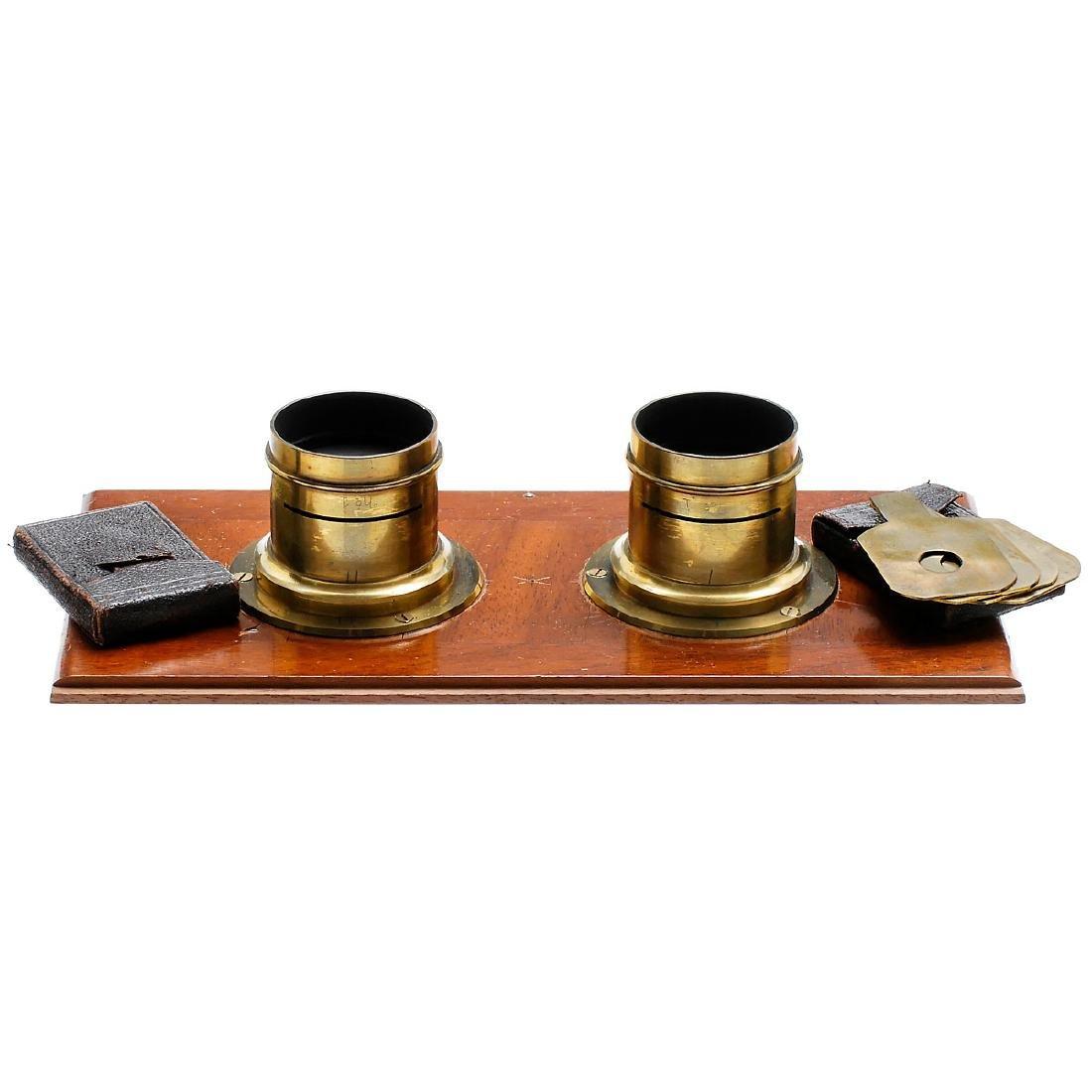 Stereo Lenses on Lens Board, c. 1870–80