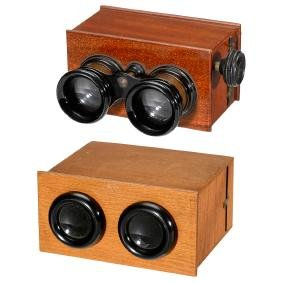 2 Stereo Viewers (45 x 107 and 6 x 13), c. 1920
