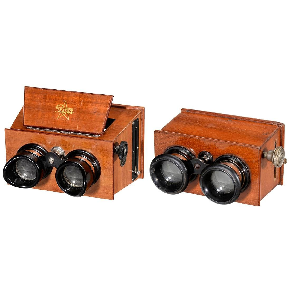 2 Hand Stereo Viewers (6 x 13 and 45 x 107), c. 1926
